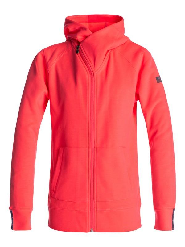 0 Wrap It Up - Zip-Up Hoodie for Women Orange ERJFT03563 Roxy