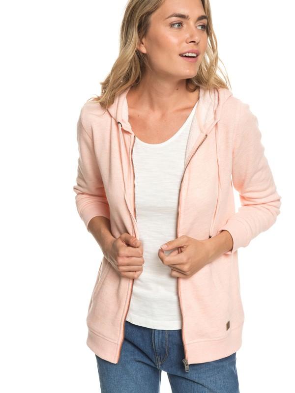 0 Trippin Zip-Up Hoodie Pink ERJFT03596 Roxy