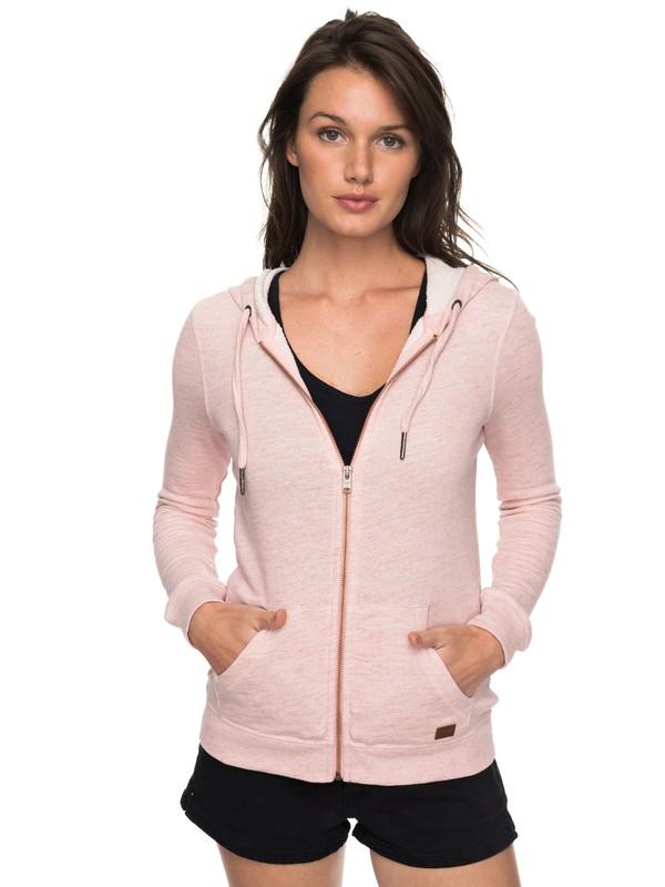 0 Trippin  Zip Up Hoodie Pink ERJFT03596 Roxy