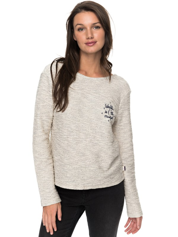 0 Saturdaze Loose Fit Tie Back Sweatshirt  ERJFT03603 Roxy