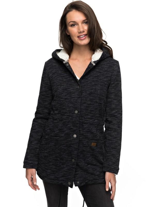 0 Into The Storm - Veste en jersey à capuche Noir ERJFT03611 Roxy