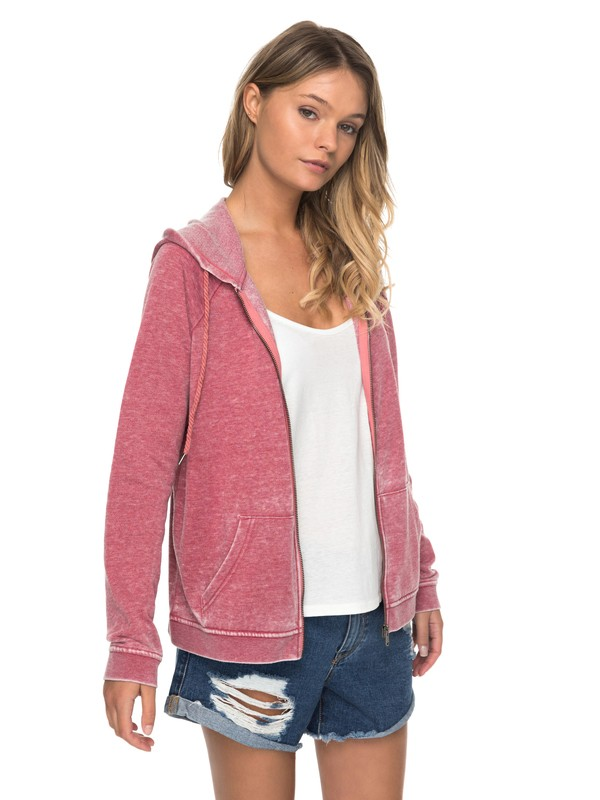 0 Break Drop Zip Up Hoodie  ERJFT03663 Roxy