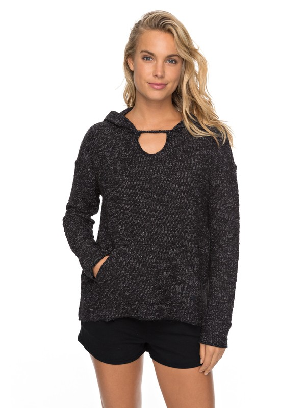 0 Crazy Waves - Hooded Sweatshirt for Women Black ERJFT03690 Roxy