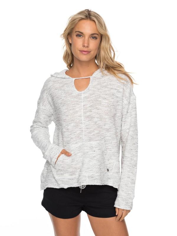 0 Crazy Waves  Pull Over Hooded Sweatshirt White ERJFT03690 Roxy