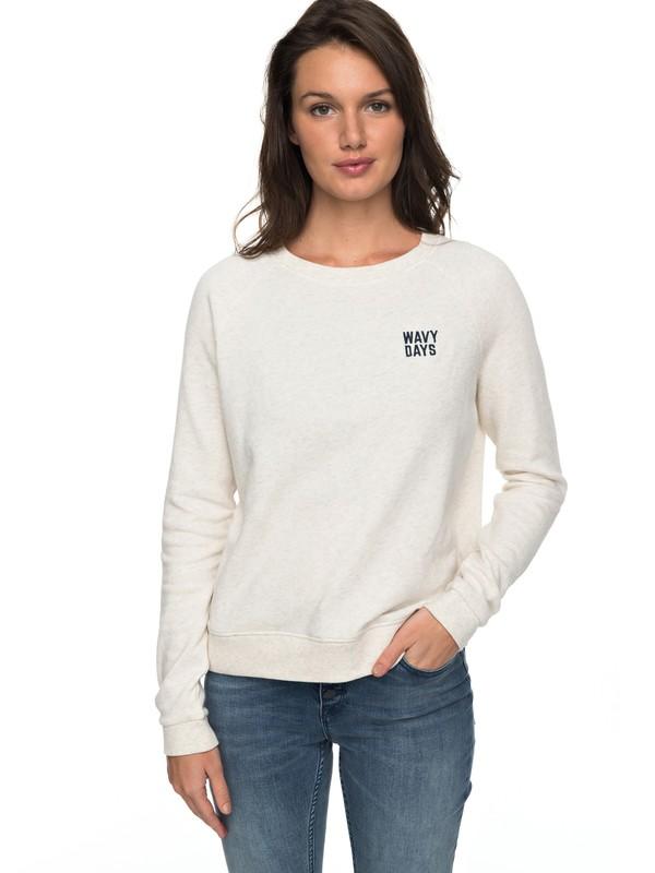 0 Hope To Love Sweatshirt Beige ERJFT03697 Roxy
