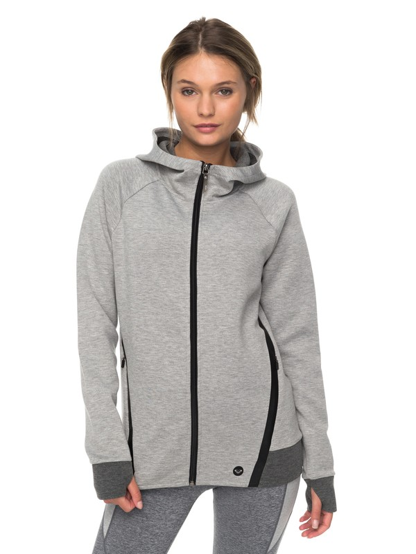 0 Duel Au Soleil  Technical Zip Up Hoodie Grey ERJFT03717 Roxy