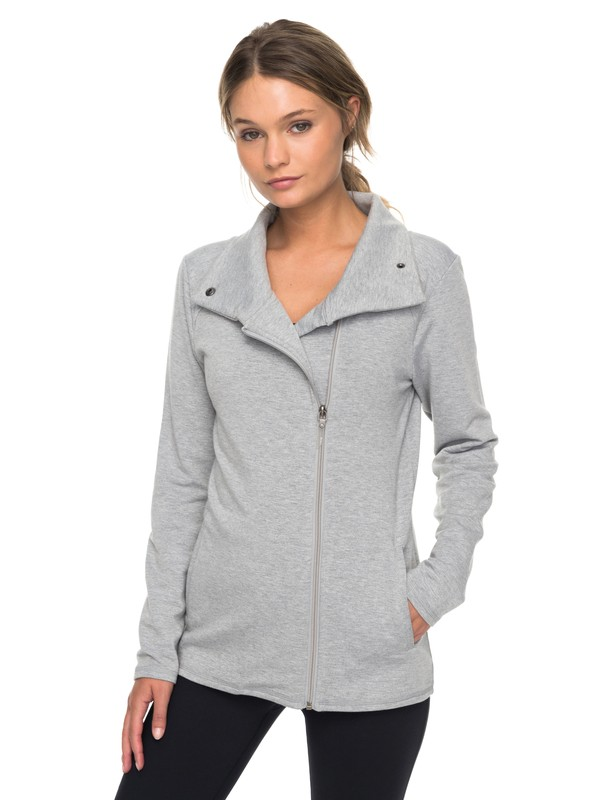 0 Paradis To Paradise  Technical Zip Up Sweatshirt Grey ERJFT03718 Roxy