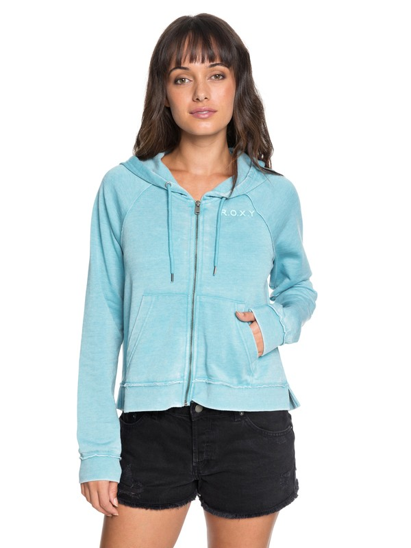 0 True To Life A Zip-Up Hoodie Blue ERJFT03763 Roxy