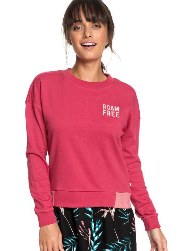 0 Scene Shifter Sweatshirt Pink ERJFT03767 Roxy