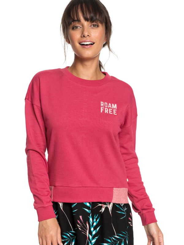 0 Scene Shifter Pullover Sweatshirt Pink ERJFT03767 Roxy