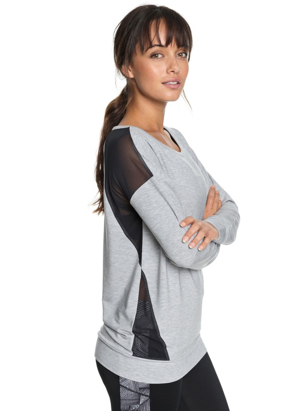 0 Under Moonlight - Sweatshirt voor Dames Gray ERJFT03780 Roxy