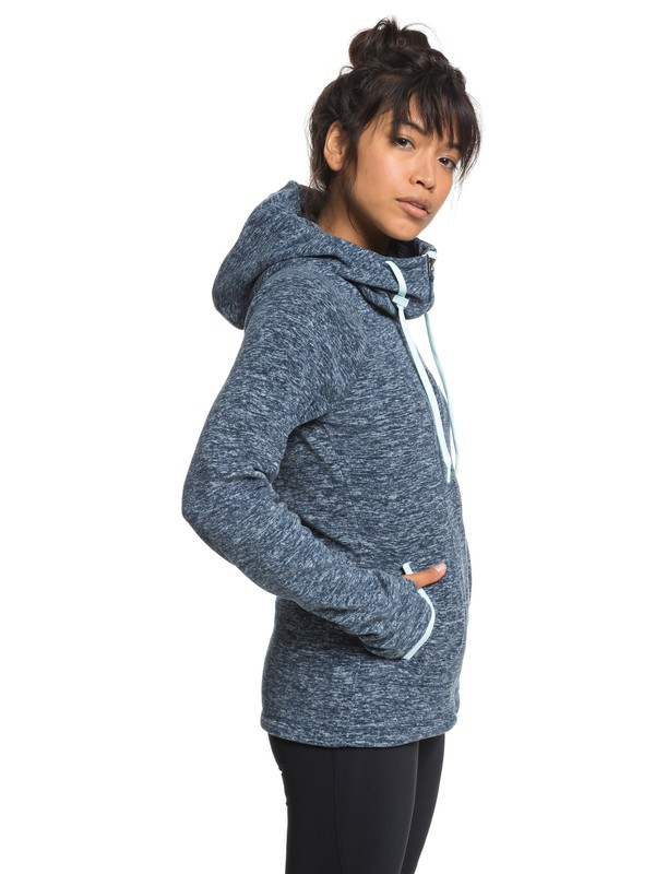 0 Electric Feeling - Zip-Up Hoodie for Women Blue ERJFT03790 Roxy