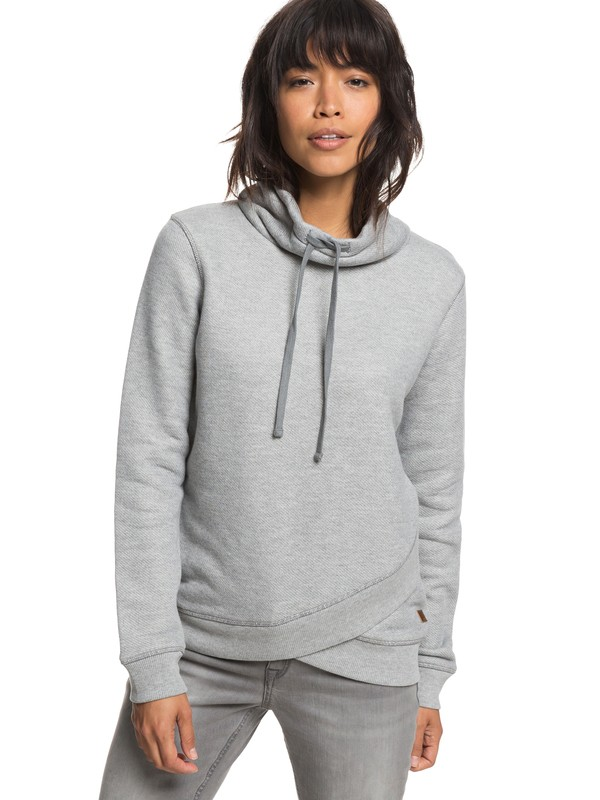 0 Seasons Change High Collar Sweatshirt Grey ERJFT03808 Roxy