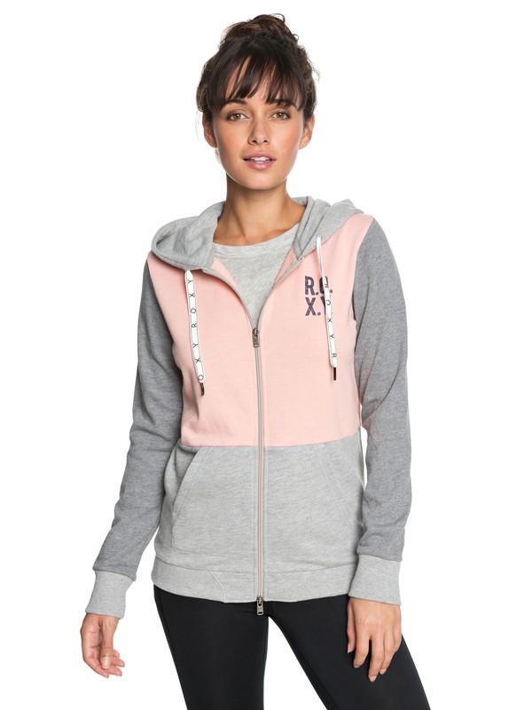 0 Dress Like You Re - Hoodie met rits voor Dames Pink ERJFT03824 Roxy