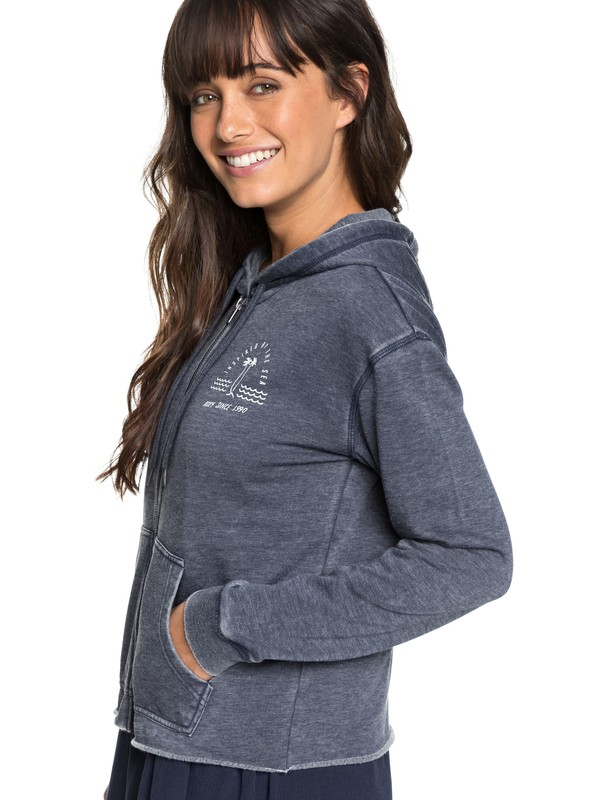 0 Moon Rising A Zip-Up Hoodie Blue ERJFT03846 Roxy