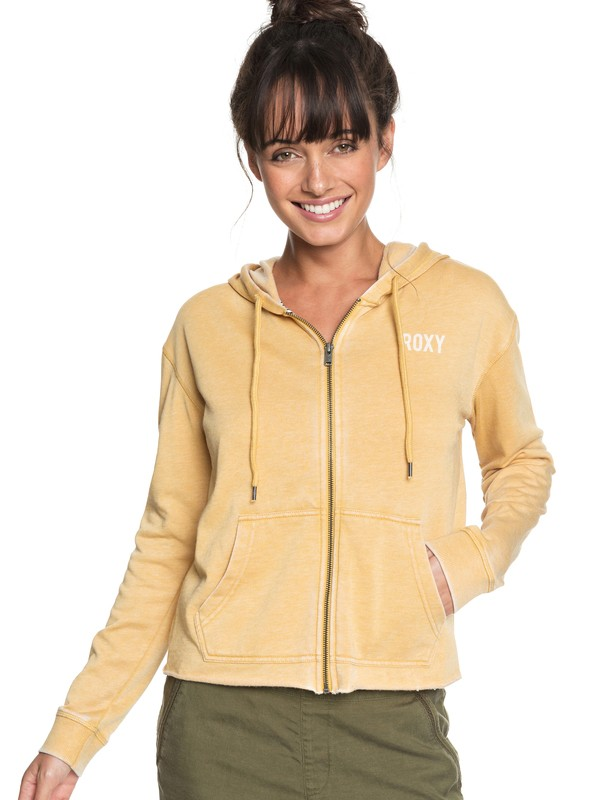 0 Moon Rising B Zip-Up Hoodie Yellow ERJFT03847 Roxy