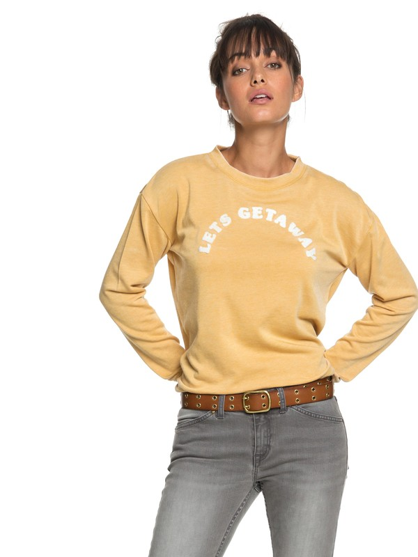 0 All At Sea A Sweatshirt Yellow ERJFT03848 Roxy