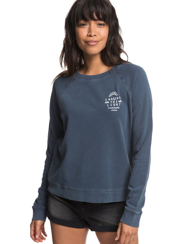 0 Highway Heights A Sweatshirt Blue ERJFT03850 Roxy