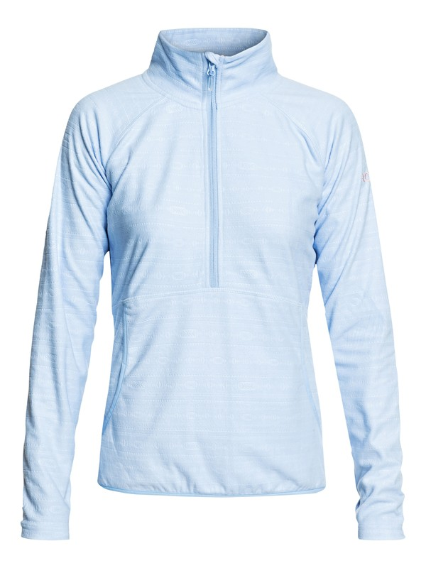 0 Cascade - Technical Half-Zip Fleece for Women Blue ERJFT03855 Roxy