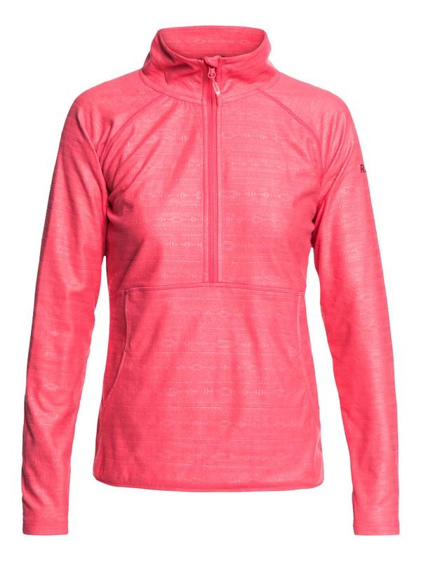 0 Cascade Technical Half-Zip Fleece Pink ERJFT03855 Roxy