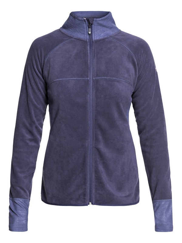 0 Harmony Technical Zip-Up Fleece Blue ERJFT03857 Roxy
