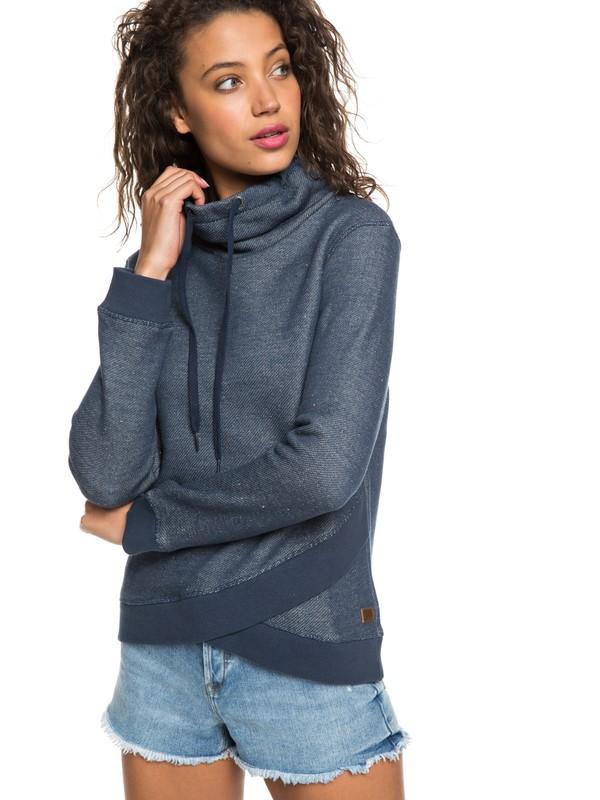 0 Seasons Change Funnel Neck Sweatshirt Blue ERJFT03874 Roxy