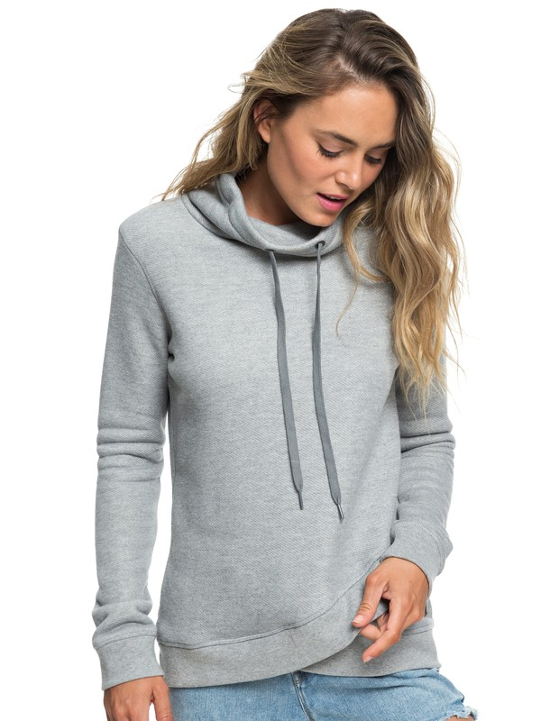 0 Seasons Change Funnel Neck Sweatshirt Grey ERJFT03874 Roxy