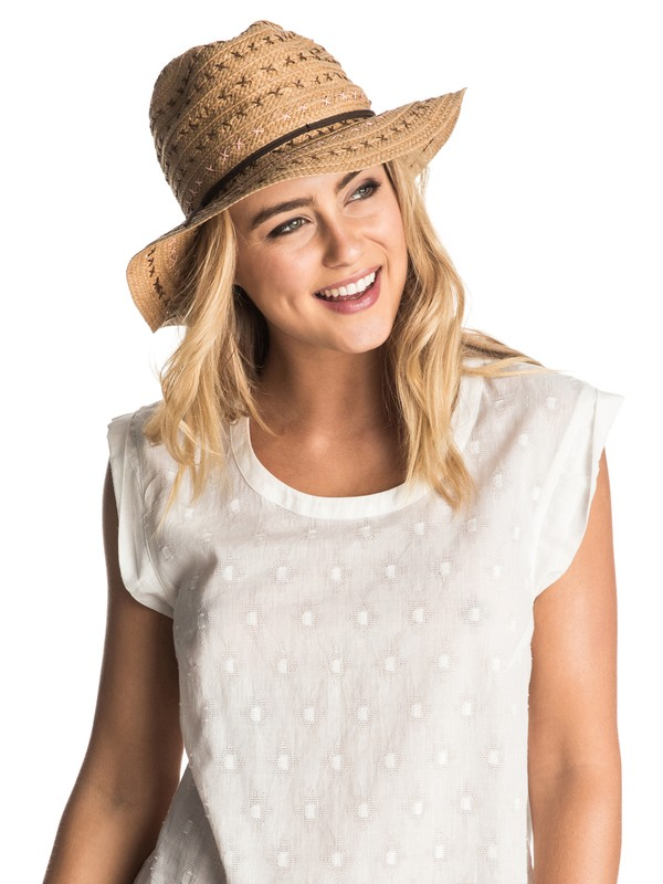 0 Breezy Straw Cowgirl Hat  ERJHA03107 Roxy