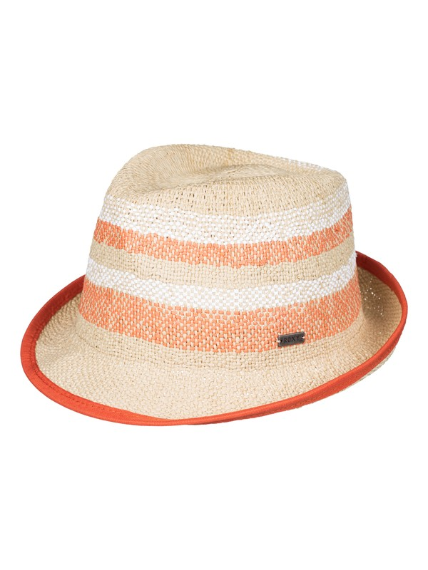 0 Big Swell Stripe - Straw Fedora  ERJHA03108 Roxy
