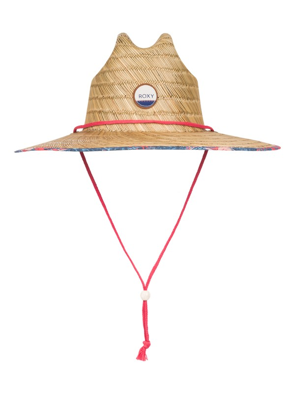 0 Tomboy Printed Straw Hat  ERJHA03163 Roxy