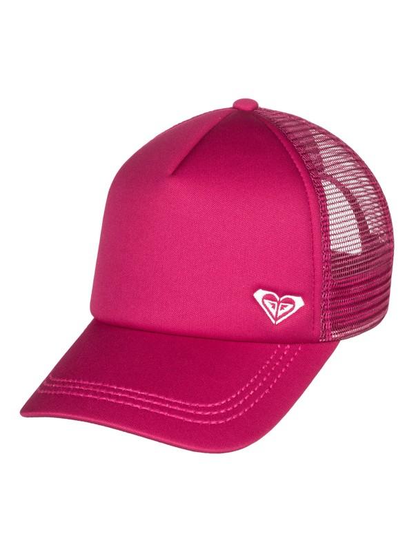 0 Finishline Trucker Hat Pink ERJHA03320 Roxy