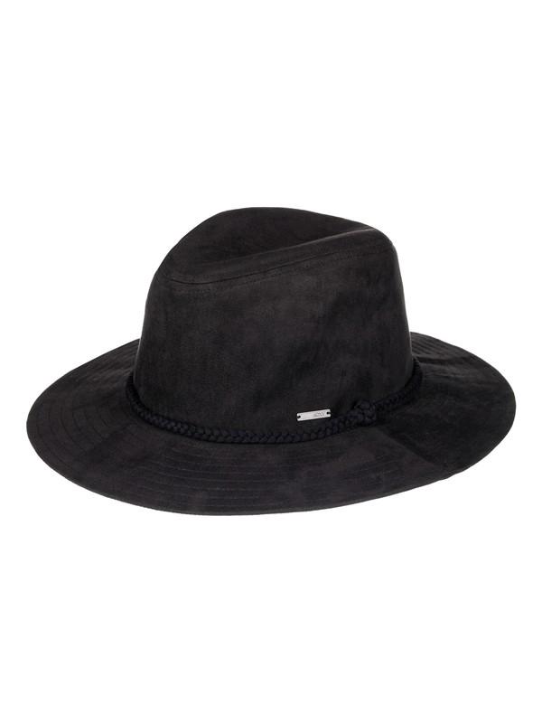 0 Enjoy Your Party - Chapeau fedora imitation suède pour Femme Noir ERJHA03325 Roxy