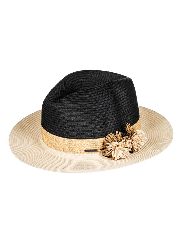 0 Vamos A La Playa Straw Panama Hat  ERJHA03333 Roxy