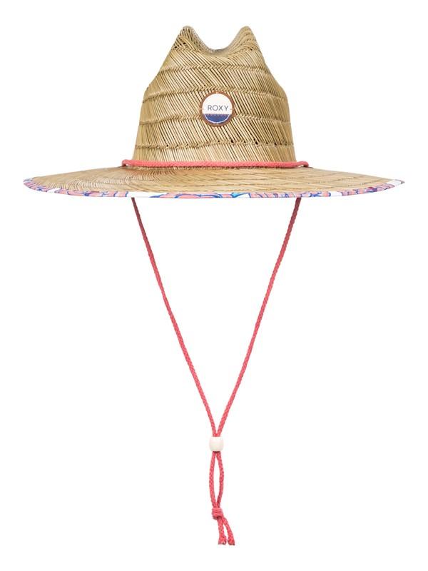 0 Tomboy Printed Straw Hat  ERJHA03361 Roxy