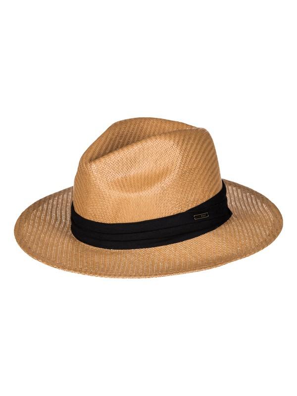 0 Here We Go Straw Panama Hat  ERJHA03376 Roxy