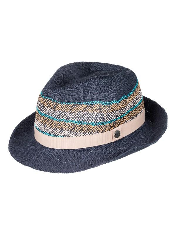 0 Sentimiento - Straw Fedora for Women Blue ERJHA03379 Roxy