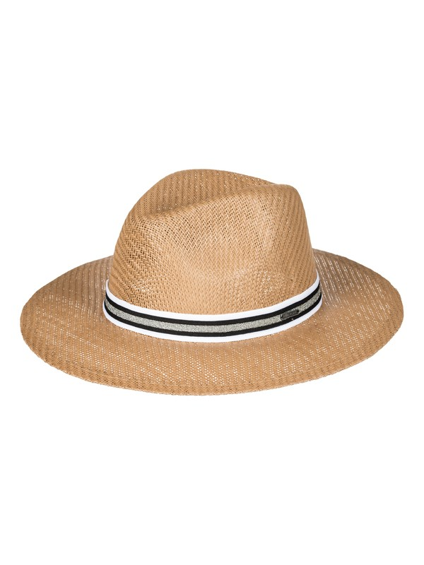 0 Here We Go Straw Panama Hat Yellow ERJHA03381 Roxy