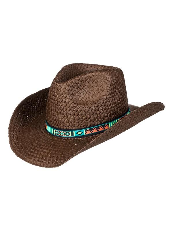 0 Cowgirl - Straw Cowboy Hat for Women Brown ERJHA03382 Roxy