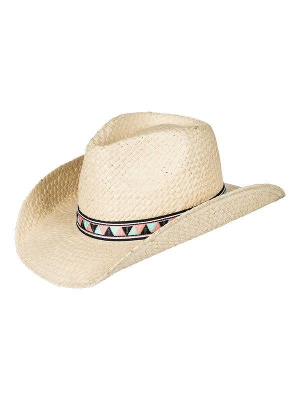 0 Cowgirl - Straw Cowboy Hat for Women Yellow ERJHA03382 Roxy