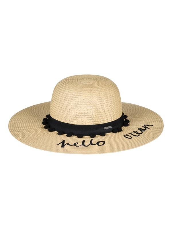 0 Pio La La Straw hat Black ERJHA03450 Roxy