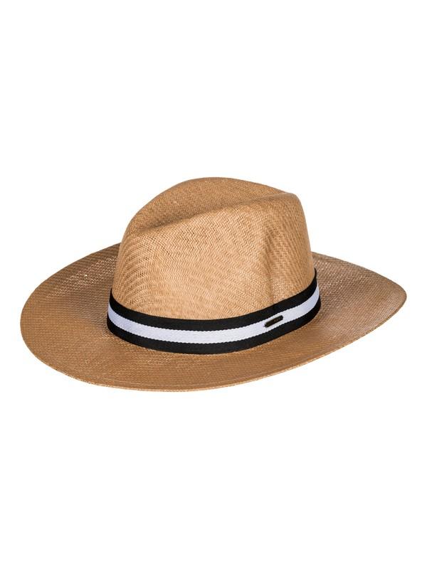 0 Here We Go Straw Sun Hat Yellow ERJHA03468 Roxy