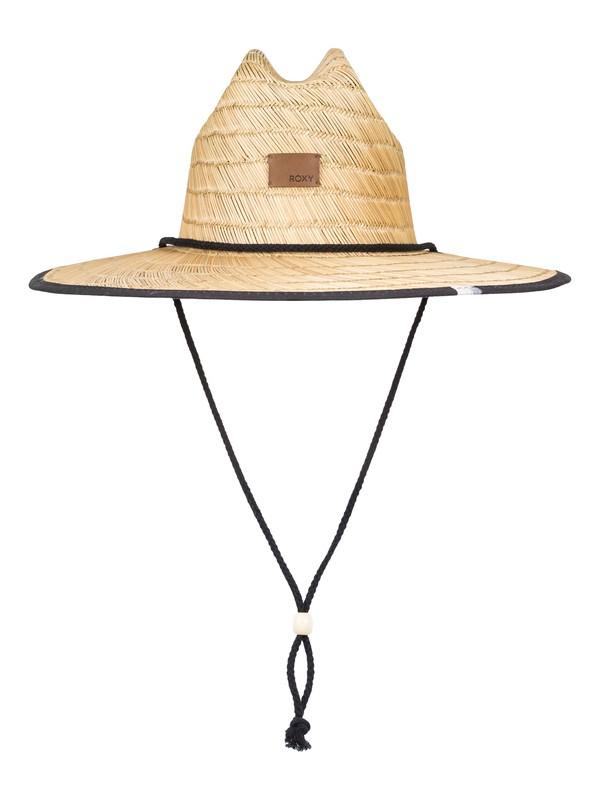 0 Sombrero de Salvavidas de Rafia Tomboy Negro ERJHA03492 Roxy