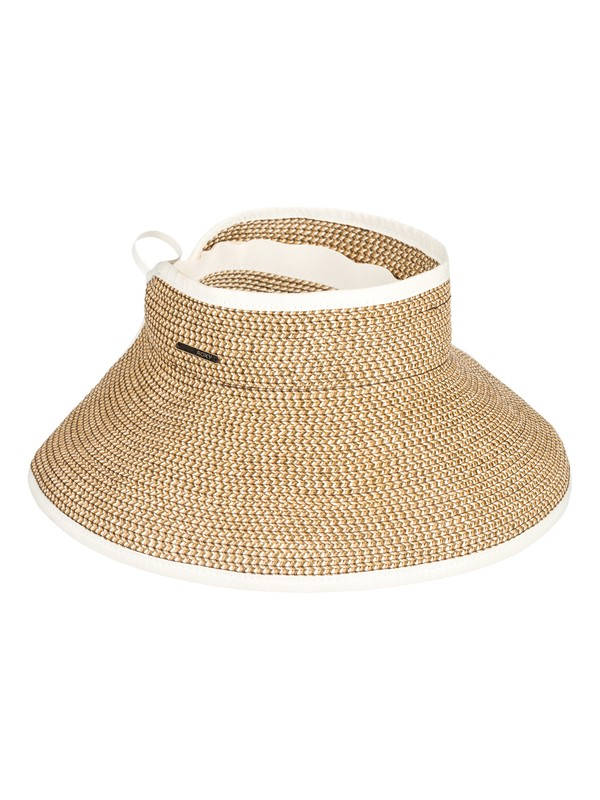 0 Kiss The Ocean Capeline Straw Hat White ERJHA03495 Roxy