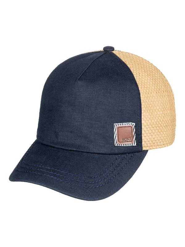 0 Incognito Straw Trucker Hat Blue ERJHA03511 Roxy