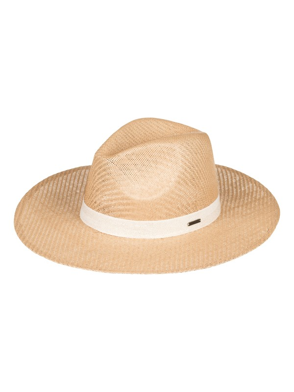 0 Here We Go Straw Sun Hat Yellow ERJHA03526 Roxy