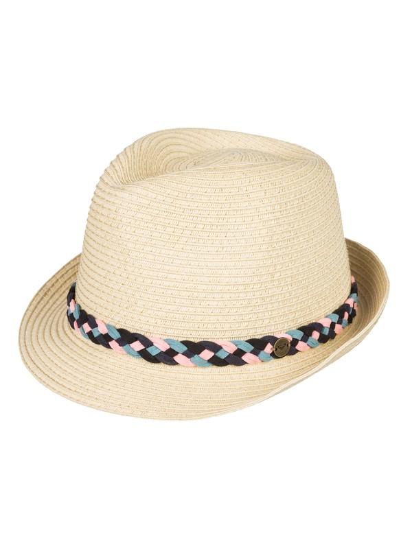0 Sentimiento Straw Trilby Hat Yellow ERJHA03528 Roxy