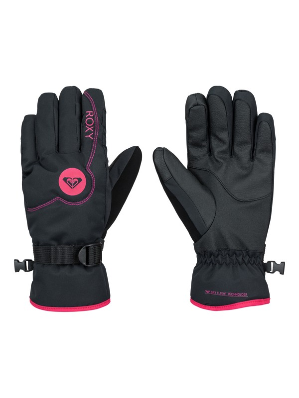 0 Jetty Solid Snowboard Gloves  ERJHN03001 Roxy