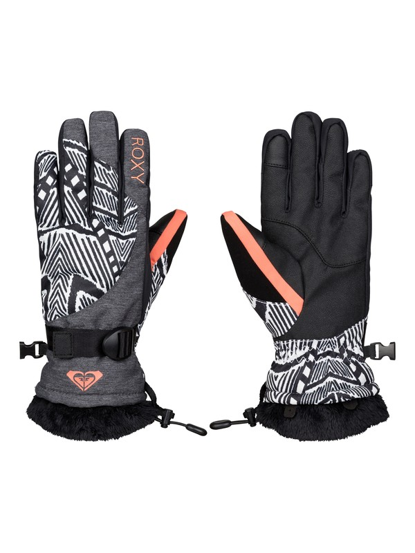 0 Merry Go Round - Snow Gloves  ERJHN03031 Roxy