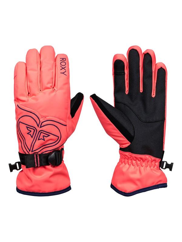 0 Poppy Snow Gloves Orange ERJHN03062 Roxy