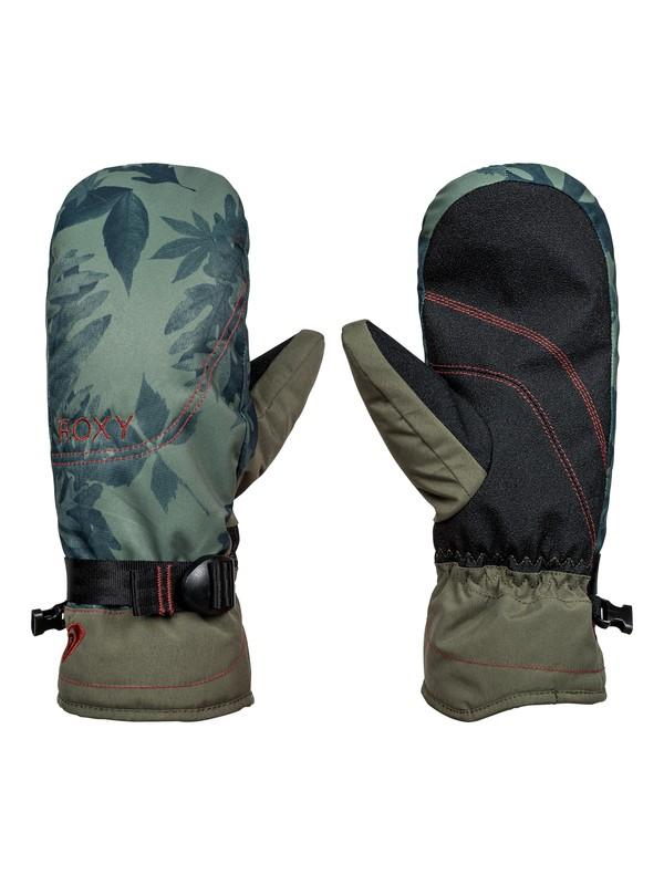 0 ROXY Jetty - Snowboard/Ski Mittens for Women Green ERJHN03064 Roxy